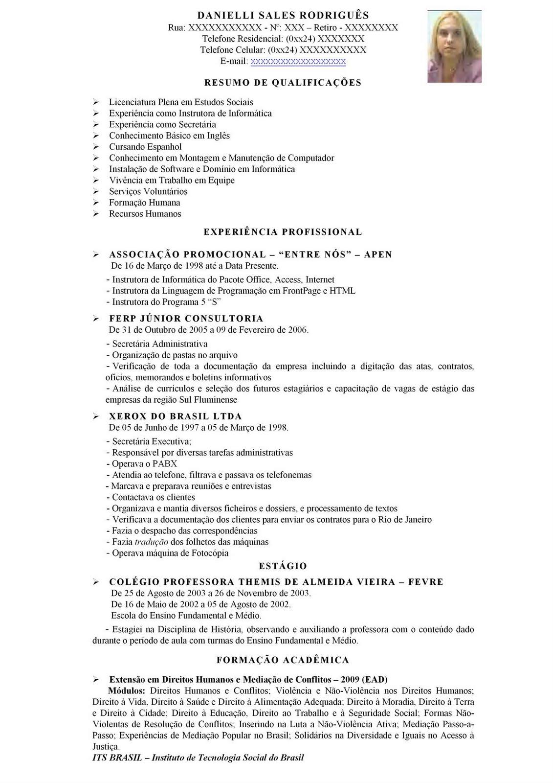 Excepcional Modelo de currículo atualizado - Dicas e Dica JY72
