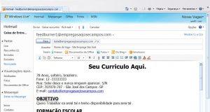 O que escrever no e-mail ao enviar o currículo